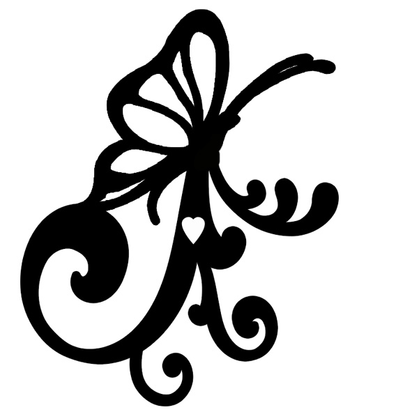 mini butterfly flourish (2) pack of 10  50 x 40